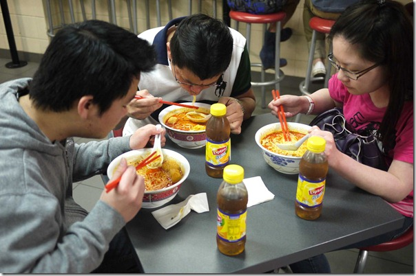 Laksa lovers with their respective Lipton Ice Tea