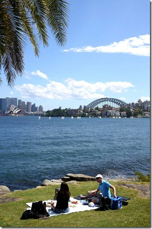 A picnic along the foreshores of Sydney harbour