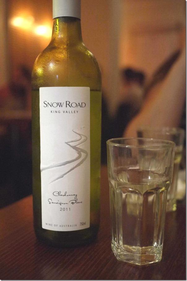 2011 Snow Road Chardonnay Sauvignon Blanc $20