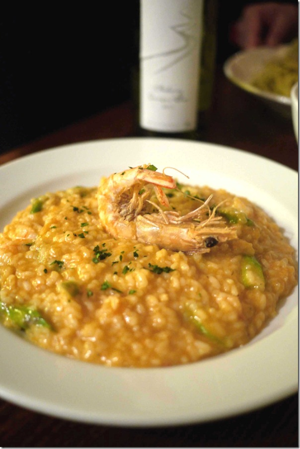 Prawn, bisque and asparagus risotto $26