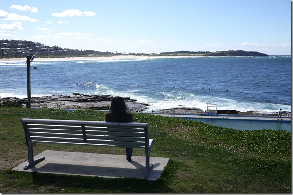 Taking in the view of Dee Why beach