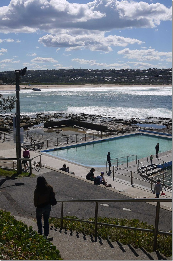 View of the rock pool and Dee Why beach