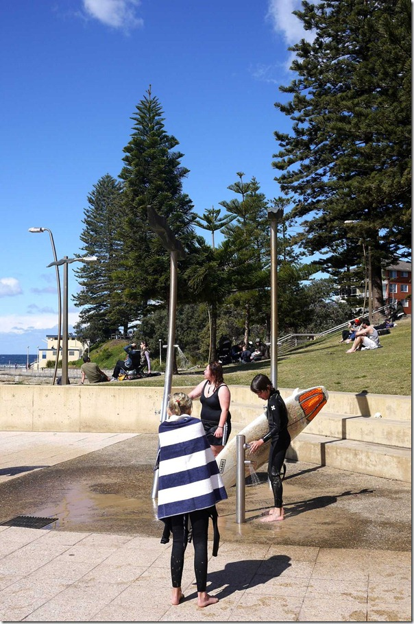 Beach goers at Dee Why
