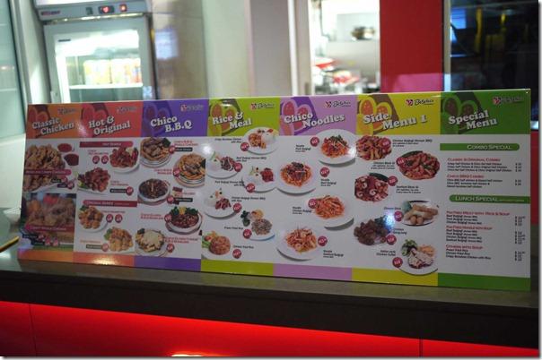 The menu - Beschico, Epping