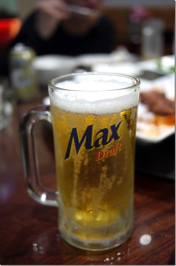 Korean Max draft 500ml $7