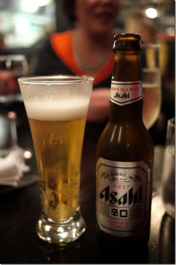 Japanese Asahi beer
