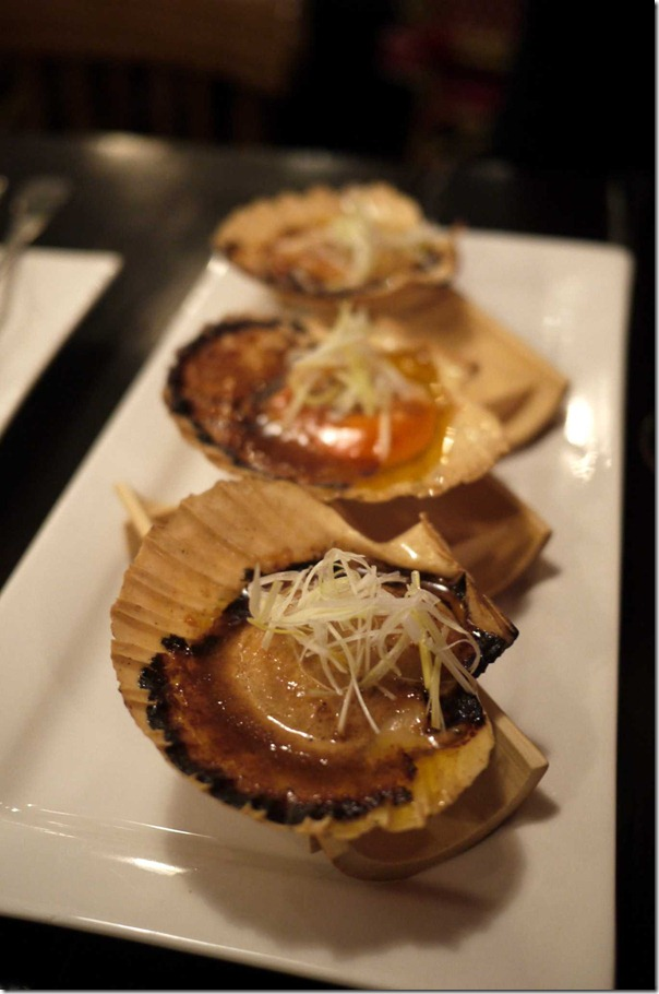 Scallops with sweet soy and onion butter $6 each