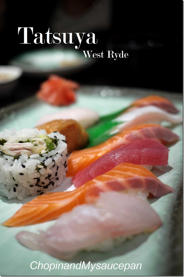 Mixed sushi platter - Tatsuya, West Ryde