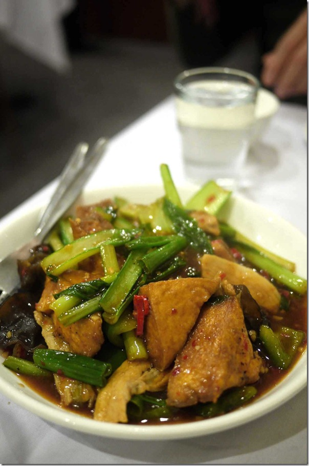 Stir-fried seasonal vegetables with tofu puffs $18.80