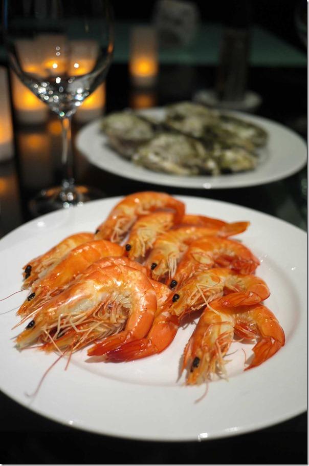 Cooked King prawns