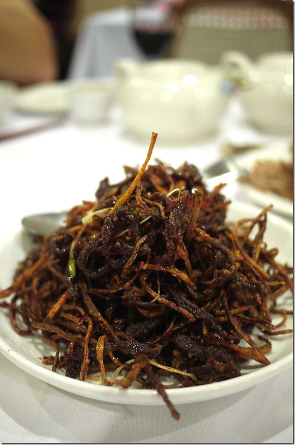 Dry fried Peking style shredded beef $20.80