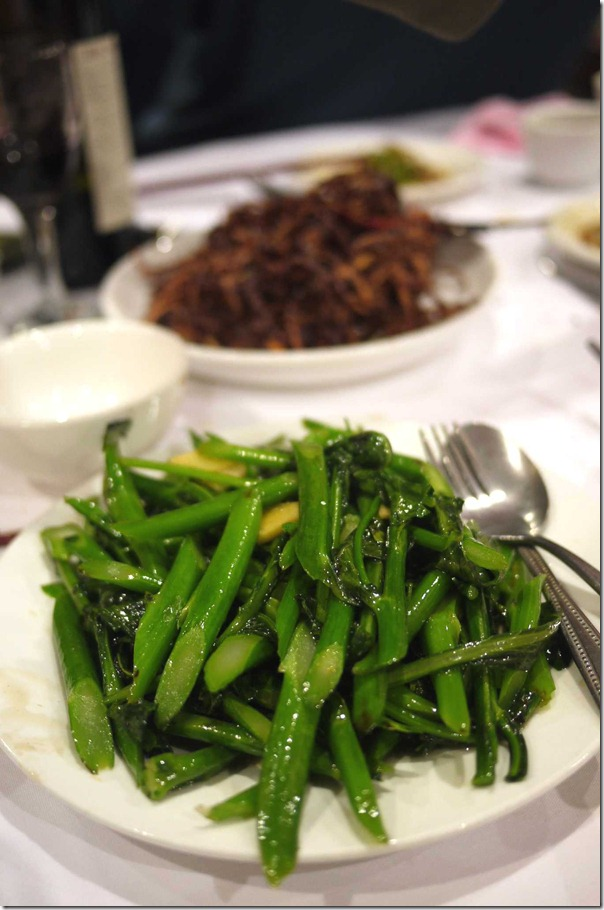 Stir-fried kai lan or Chinese mustard greens with ginger sauce $16.80