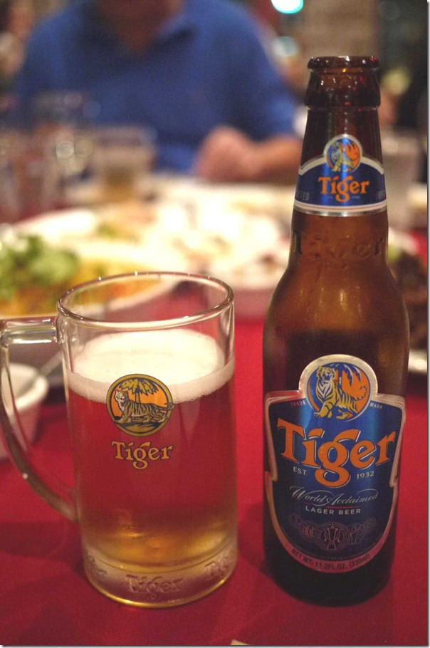 Singapore Tiger beer $7