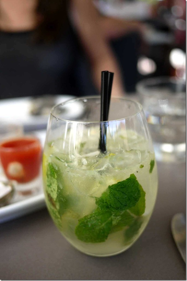 Mojito with Bacardi, mint, soda and lime $14