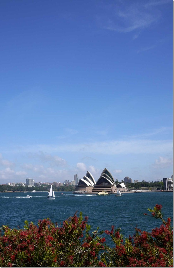 Iconic Sydney Opera House on a sunny spring day