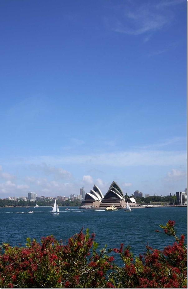 Iconic Sydney Opera House on a sunny spring day