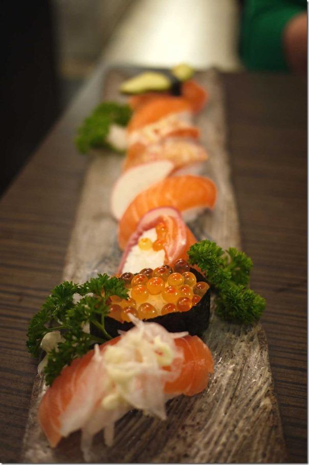 Special salmon sushi set $20.80