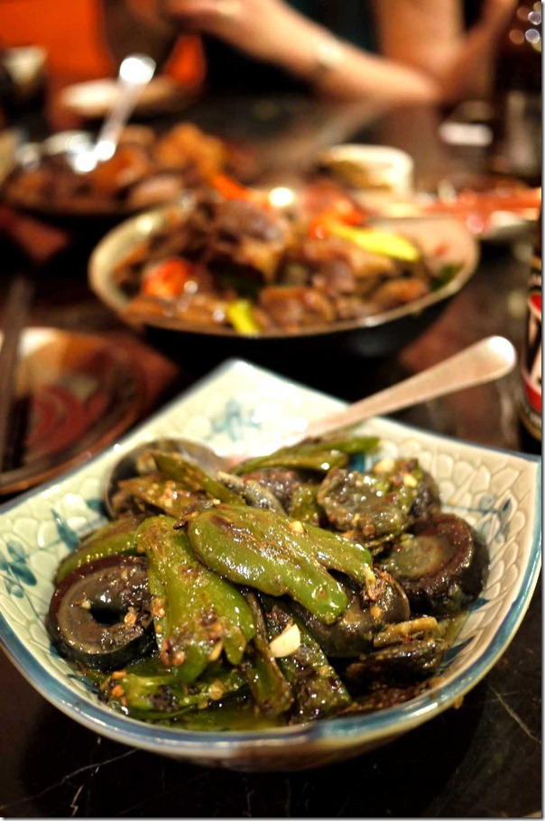 Stir-fried green capsicum with preserved duck egg $18.80