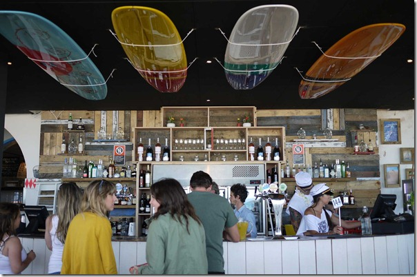 Cocktail bar at The Bucket List, Bondi beach