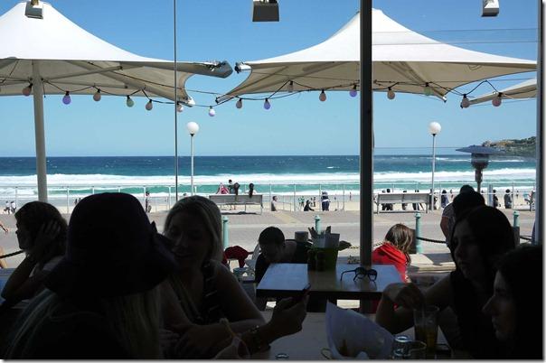 View of Bondi beach from The Bucket List