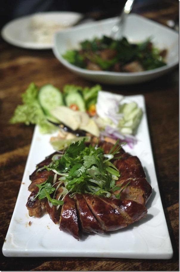 Sai Oua or Spicy pork sausage $11.50