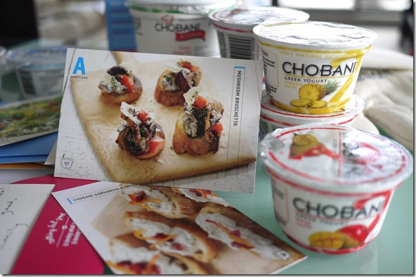 Mushroom bruschetta recipe with Chobani Greek yogurt
