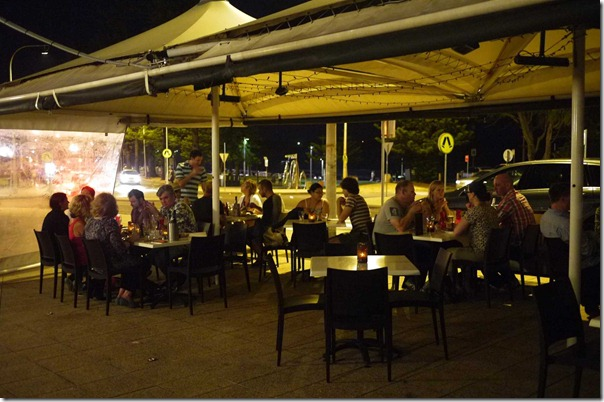 Al fresco dining at Rio Barbecue, Dee Why