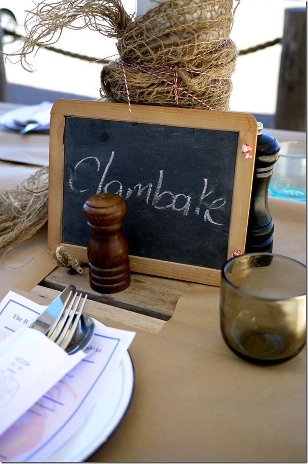 Table setting at The Bucket List, Bondi Beach