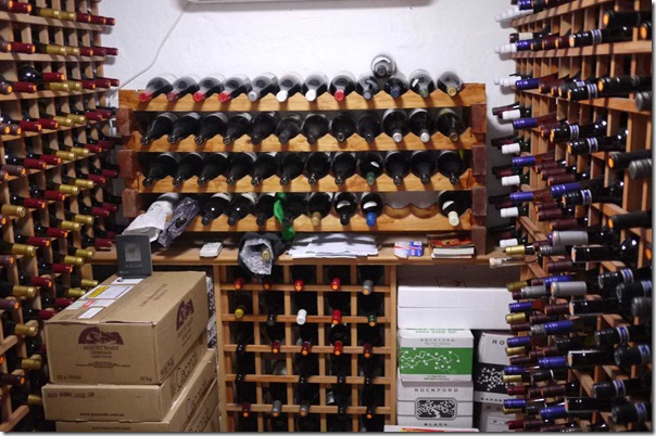 A section of Joe's private cellar