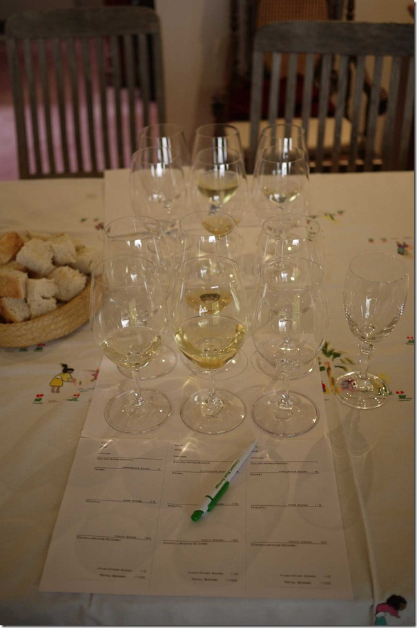 Blind tasting of white varietals and tasting notes