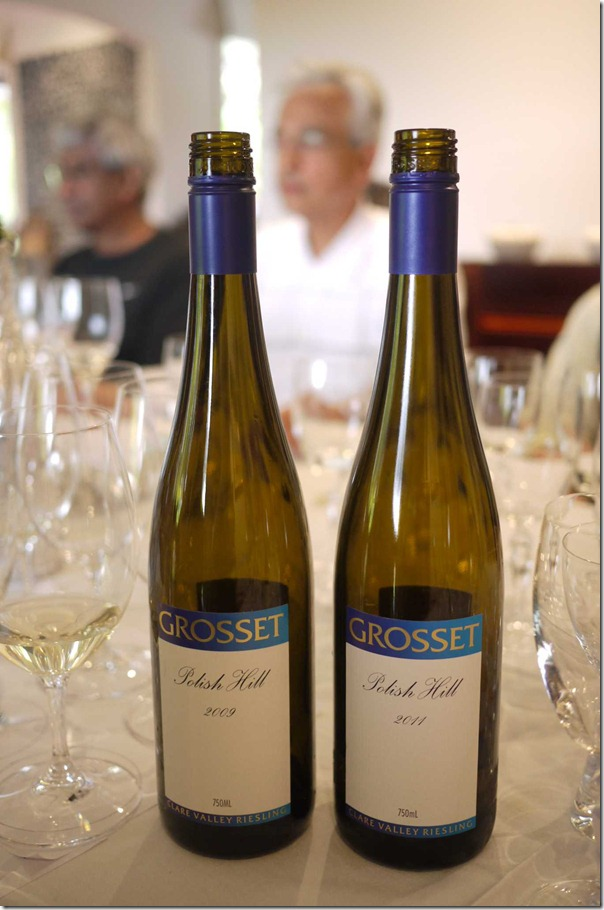 Arguably Australia's finest riesling: Grosset's Polish Hill riesing 2009 and 2011
