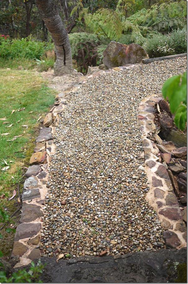 A stony footpath ...