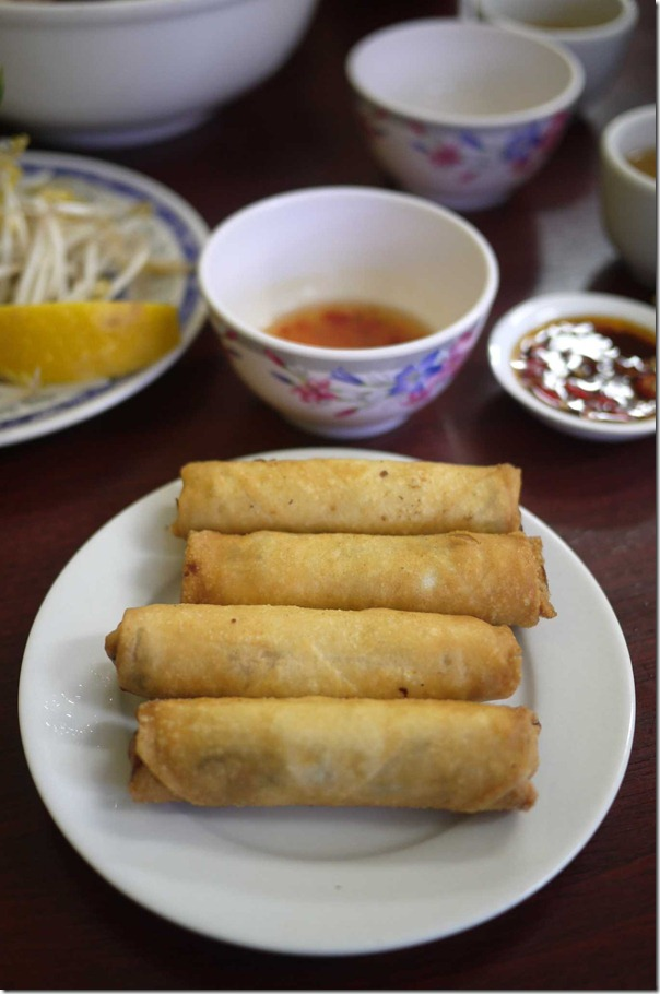 Deep fried spring rolls $4