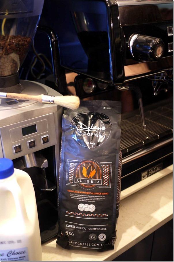Delano coffee at Dulce Luna