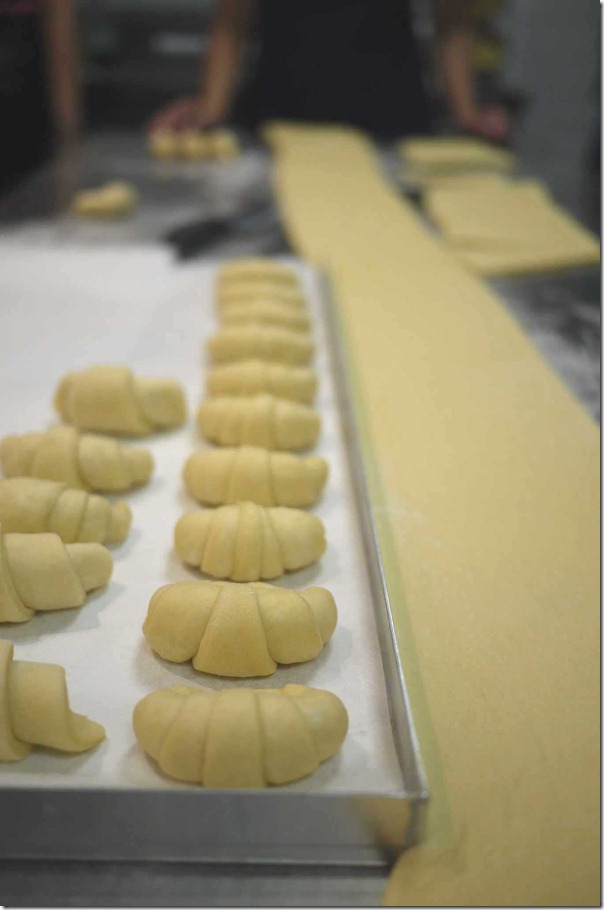 Croissants in the making
