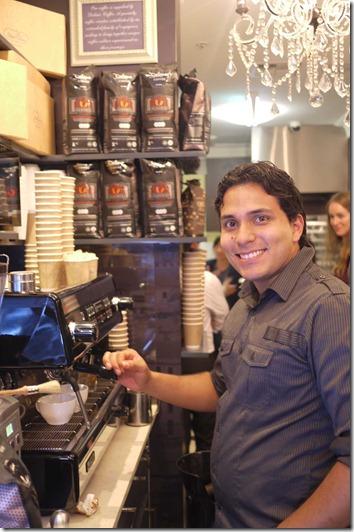 Marlom Medina, barista at Dulce Luna
