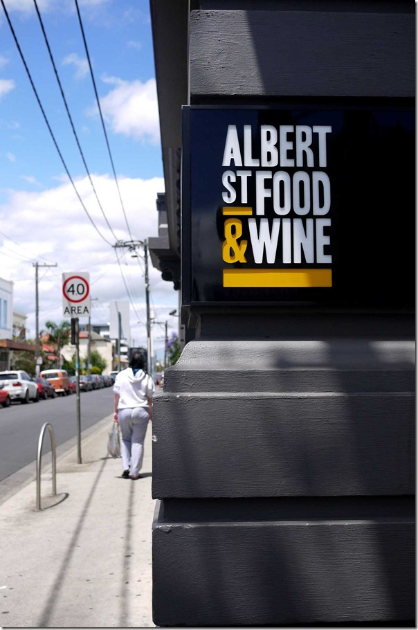 Albert street Food & Wine, Brunswick
