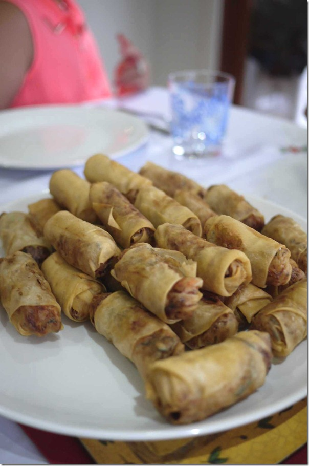 Chinese deep fried spring rolls