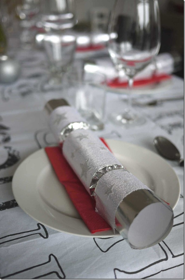 Dinner table setting, Christmas 2012