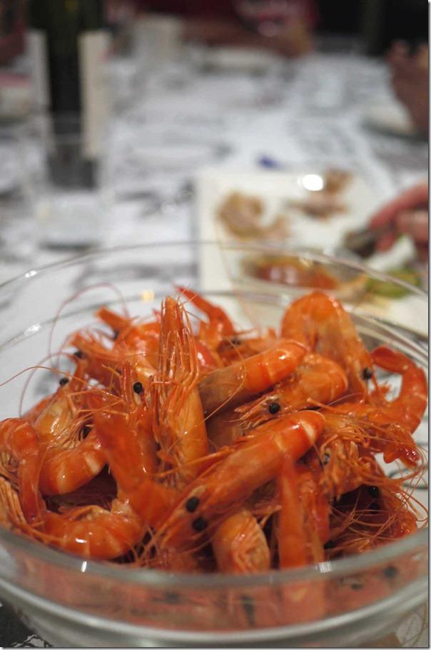 Cooked Australian tiger prawns