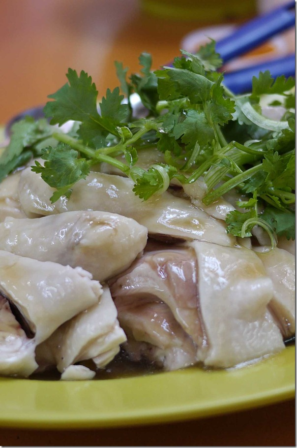 Half a Hainanese chicken S$12 or A$10