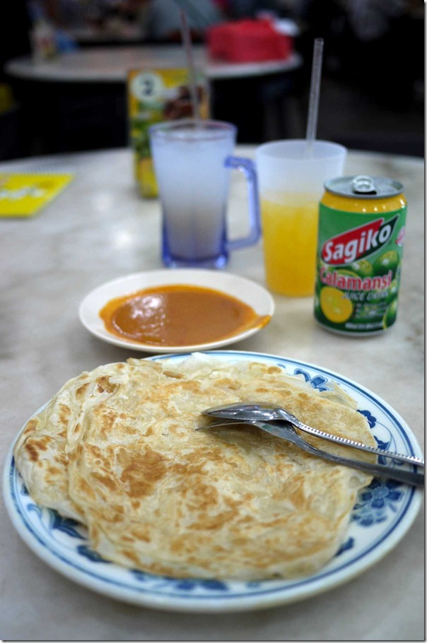 Roti prata S$2 or A$1.70 for 2 pieces minimum order