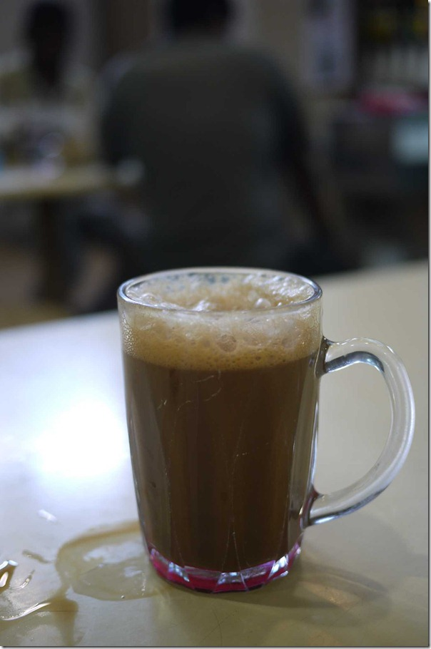 Kopi tarik S$0.80 cents or A$0.65 cents (not full as 2 gulps were downed)