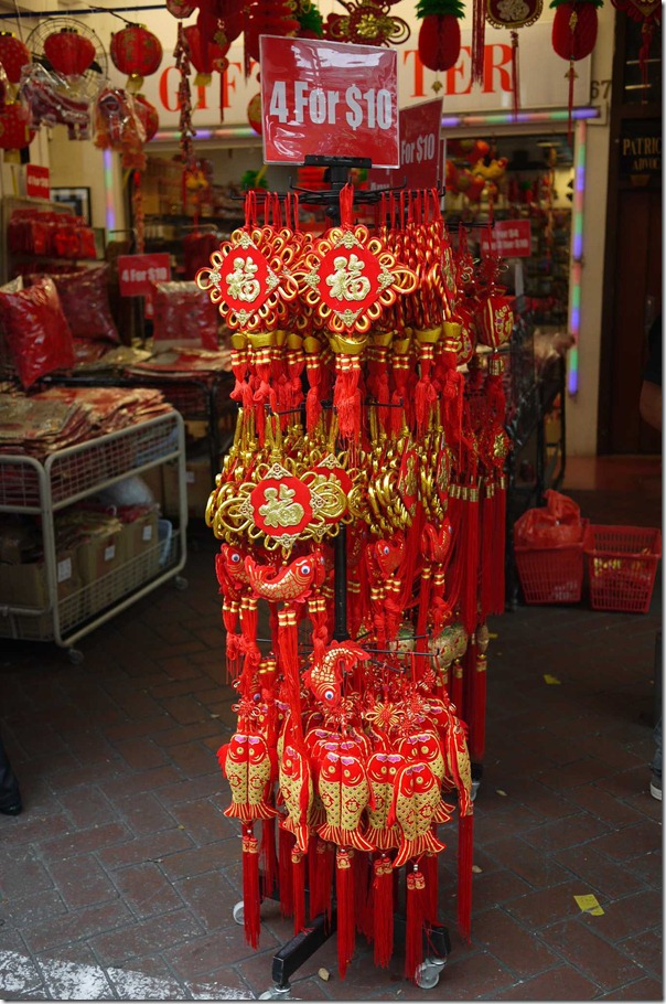 Chinese New Year ornaments in Chinatown, Singapore