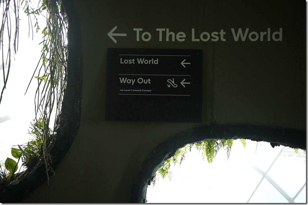To venture into the Lost World or to exit