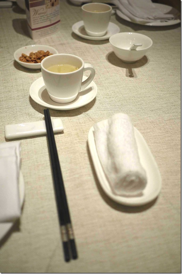Table setting, Imperial Treasure Fine Chinese Cuisine