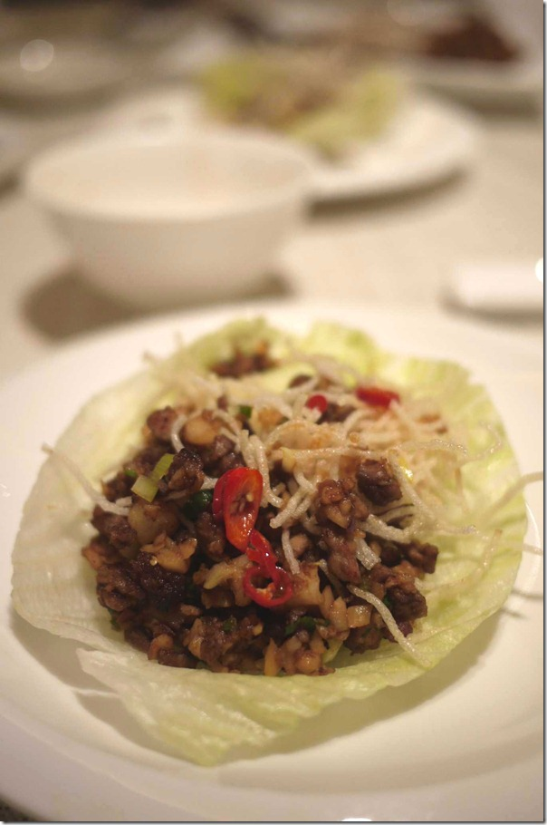 Second course Sang Choy Bao with duck meat S$10 or A$8.30