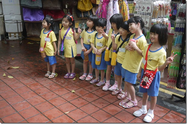 School children in Chinatown, Singapore