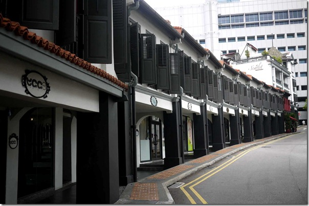 Built upon heritage shophouses: The Scarlet, Singapore