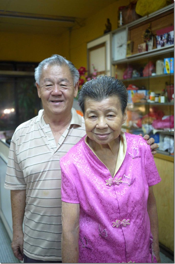 Mr Yuen Yee Soo and his wife, proprietors of Restoran Soo Kee, Kuala Lumpur